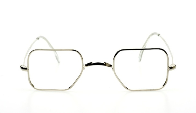 Eyeglass Frame Pads : Classic eyeglasses without nose pads in shiny silver by K ...