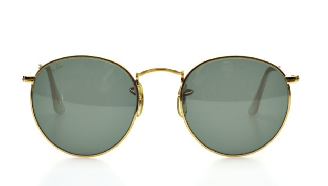 ray ban sunglasses classic  classic round vintage ray ban sunglasses in golden by bausch & lomb usa rb1k