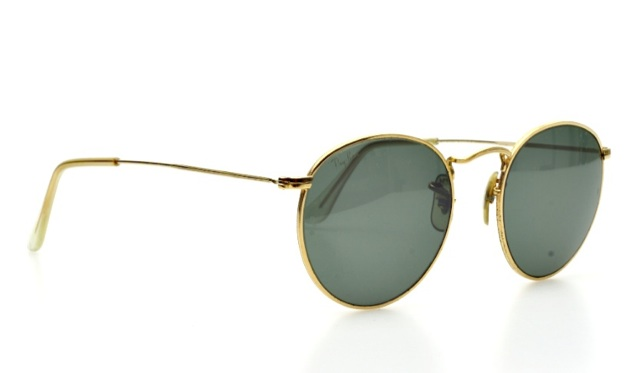 vintage ray ban sunglasses  Classic round vintage RAY BAN sunglasses in golden by BAUSCH \u0026amp ...