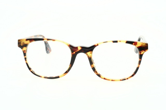 Classic vintage eyeglasses, natural amber colored, made in ...
