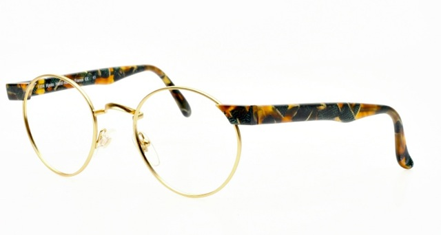 Optical Glasses Numbers : Classy Panto Eyeglasses Colored with Golden Rims and ...