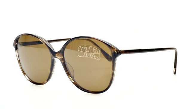 vintage sunglasses in brown with zeiss glasses by