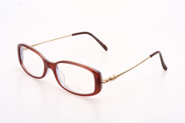 Flat brown luxurious Eyeglasses by ESCADA - Mod. MUY E0190 ...