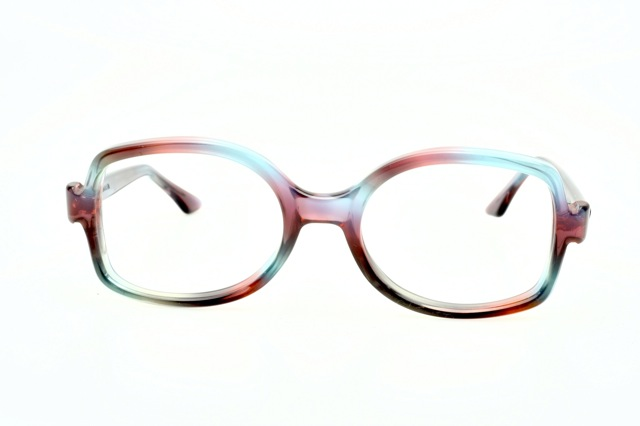 fresh funky vintage eyeglasses rainbow colored by