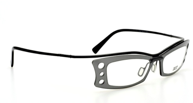 Futuristic eyeglasses in grey transparent, black by XIT ...