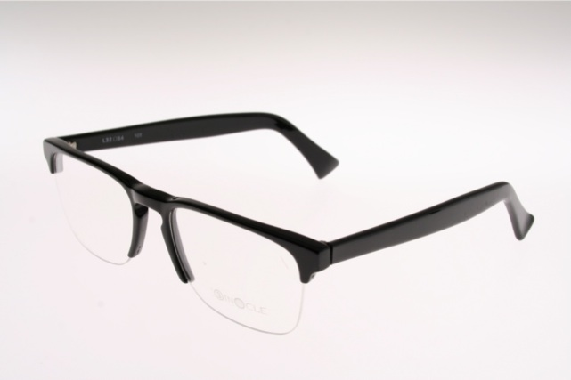 Rimless Glasses Nylon : Half rimless black Eyeglasses by BINOCLE -held by nylon ...