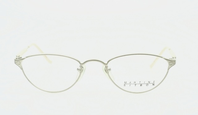 martine sitbon feminine eyeglasses in frosted silver