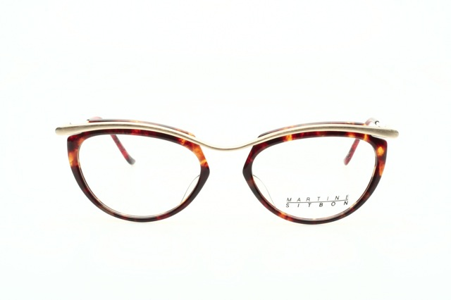 martine sitbon eyeglasses in golden colored