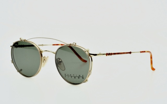 martine sitbon panto eyeglasses with sunclip mod