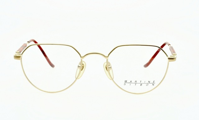 martine sitbon sunclip eyeglasses in frosted golden