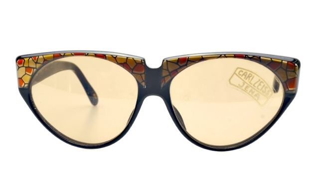 black vintage sunglasses with carl zeiss glasses