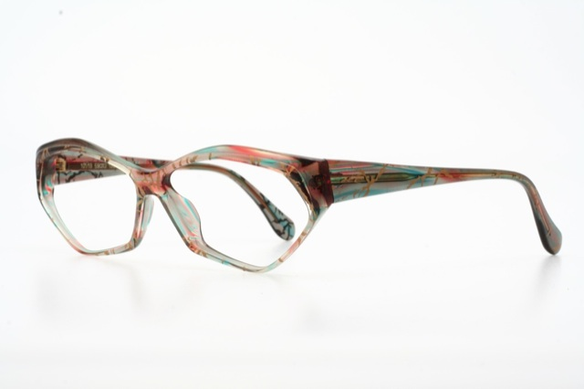Real Gold Eyeglass Frames : Pastel Colored with Real Gold Inserted Vintage Eyeglasses ...