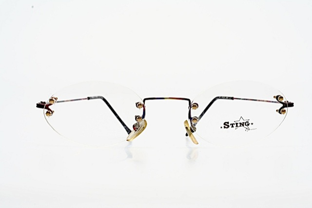 Rimless Eyeglass Frame Parts : Sting rimless multi colored painted metal parts oval ...